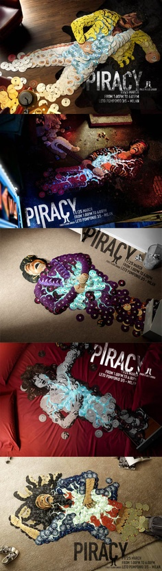 Creative posters against Music Piracy