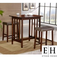 @Overstock - This classy pub-style dining set is the ideal dining solution for up to two people. This set is perfect for singles or couples who do not need a full dining set. It can also be used for additional dining space during gatherings and celebrations.http://www.overstock.com/Home-Garden/ETHAN-HOME-Nova-3-piece-Cherry-Pub-Style-Dining-Set/4063948/product.html?CID=214117 $139.49