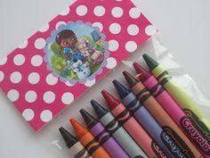 disneys doc mcstuffins | Doc McStuffins Crayon Birthday Party Favors by CrayonMeCrazy