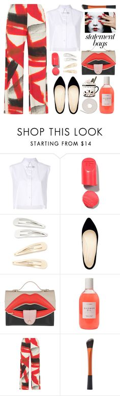 """""""Arm Candy: Statement Bags"""" by grozdana-v ❤ liked on Polyvore featuring Helmut Lang, Kitsch, Nine West, Giancarlo Petriglia and statementbags"""