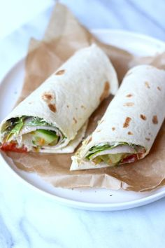 Lunch wrap tips - Lekker en Simpel Best Lunch Recipes, Healthy Diet Recipes, Healthy Food, Healty Lunches, Vegetarian Recepies, Healthy Wraps, Brunch, Wrap Recipes, Easy Cooking
