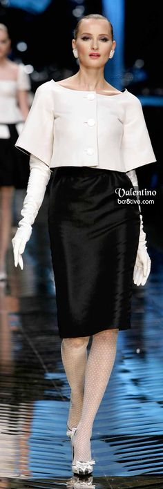 Poised Black and White Design by Valentino
