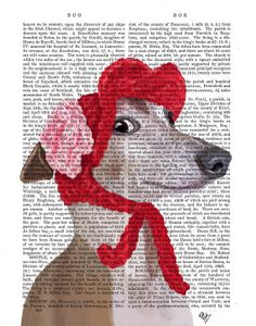 Greyhound with Red Woolly Hat, dog poster, dog decor dog illustration dog picture dog gift for dog lover dog Print dog art,  greyhound print on Etsy, $15.00