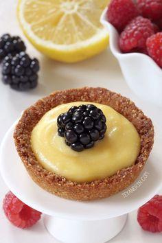 Easy Honey-sweetened Paleo Mini Lemon Tarts