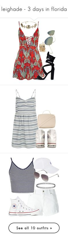"""""""leighade - 3 days in florida"""" by littlemixmakeup ❤ liked on Polyvore featuring Topshop, New Look, Converse, Forever 21, Dondup, Polo Ralph Lauren, Calvin Klein, Retrò, Chanel and Vans"""