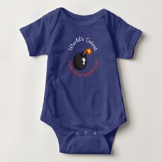 World's Cutest Domestic Terrorist by FoS Jones Baby Bodysuit - toddler youngster infant child kid gift idea design diy