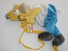 Homer Simpson Plush Backpack 1997 UK