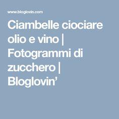 Ciambelle ciociare olio e vino | Fotogrammi di zucchero | Bloglovin'