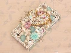 Amazon.com: Frog-tech - DIY Luxurious 3D Rhinestone heart Bling Bling Cell Phone Case Resin Flat Back Cabochons Deco Kit / Set (not a finished product) can fit for iphone 4/4s iphone 5g/ i9300 S3/ samsung note 2: Cell Phones & Accessories