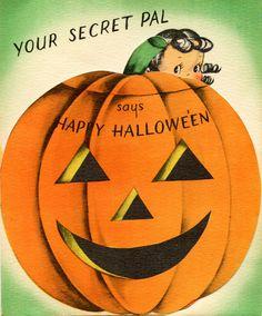 Secret pal Modern Halloween, Retro Halloween, Halloween Pumpkins, Happy Halloween, Halloween Stuff, Halloween Ideas, Halloween Night, Holidays Halloween, Halloween