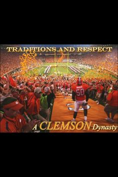 Clemson. Tradition and respect. SO STOP MESSING WITH THE ROCK, PEOPLE!