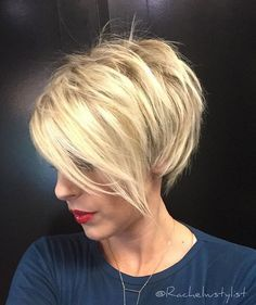 """Instagram media by rachelwstylist - """" Pixie Please """" #btconeshot_color16 #btcbigshot_haircut16  I Miss Your Face!!!! @thekatiegoffe  #hair#hairstylist#pixiecut#blondebabe#blondefayetteville#beautiful#oribeobsessed#behindthechair#modernsalon#hairbrained#shorthair#positivevibes#loveandlight#dreambig  @behindthechair_com @hashtagpixiecuts @hairbrained_official"""