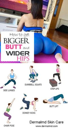 Best exercises to get bigger butt and wider hips