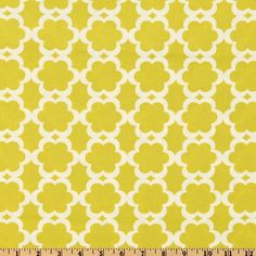 Kumari Garden Tarika Moss from @fabricdotcom  Designed by Dena Designs for Free Spirit, this cotton print fabric features an allover geometric blossom design and is perfect for quilts, home décor accents, craft projects and apparel. Colors include moss yellow and ivory.
