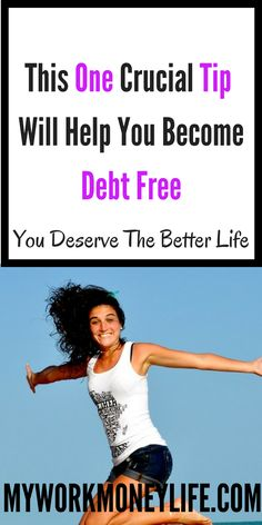 Do you want to get out of debt fast? This is one MUST KNOW tip will get you out of debt and into the better life! Ways To Save Money, Money Tips, Money Saving Tips, How To Make Money, How To Get, Money Budget, National Debt Relief, Money Problems, Get Out Of Debt