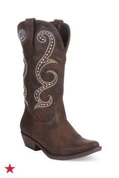The detailed embroidery on these cowboy boots will turn heads. Get yourself a pair today — shop them on macys.com!