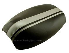 Dual Silver Racing Stripe Yamaha Vino 125 Scooter Seat Cover | Scooter Seat Covers
