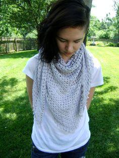 Triangle Shawl or Scarf Pattern Easy Crochet by sheilalikestoknit,