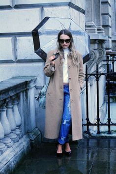 The Style Confessional wearing our Wool Camel Coat  Read the blog: http://www.styleconfessional.com/2014/02/lfw-aw14-day-1.html