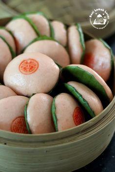 Nasi Lemak Lover: Pink steamed glutinous rice buns, soda method (Ki Ka Ku) 喜粄 (苏打汽水), Dongzhi giveaway result