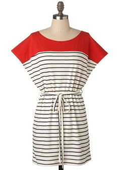 Super cute nautical dress for Ole Miss Gamedays