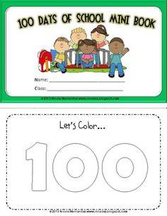 100 Days of School Mini Book For Little Kids