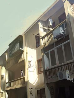 """Chiều"" / ""Bangqiao Yan"" の ra su Suites [pix . Background Drawing, Animation Background, Environment Concept Art, Environment Design, Illustrations, Illustration Art, Emotional Photography, Image Manga, Matte Painting"