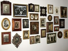I love old photos. Everyone should have a hallway of family memories!