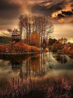Beautiful Mother Nature — Autumn lake in Bulga share moments Beautiful World, Beautiful Places, Beautiful Pictures, Beautiful Scenery, Beautiful Flowers, Nice Photos, Beautiful Forest, Beautiful Beautiful, Beautiful Babies