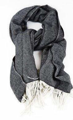 herringbone scarf.