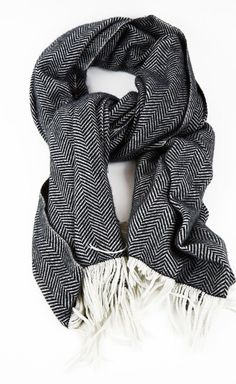 I like this Herring Bone Scarf!! Classic and looks warm too, perfect for Winter.