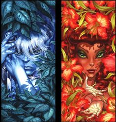 Life- and soulmates Cutter and Leetah from Wendy Pini's breathtaking graphic novel series, Elfquest. Ying Y Yang, La Quete, All Art, Comic Art, Comic Book, Fantasy Art, Fairy Tales, Geek Stuff, Comics