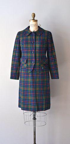Mitchell Tartan plaid suit vintage 1960s Pendleton by DearGolden
