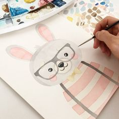 Mom Shares Photo of How the Keto Diet Transformed Her Body After Pregnancy Wall Drawing, Watercolor Drawing, Watercolor Animals, Kawaii Drawings, Cute Drawings, Cute Illustration, Watercolor Illustration, Painting For Kids, Art For Kids