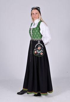 Østfold Folk Costume, Costumes, Rosemaling Pattern, Norwegian Wedding, Norse Vikings, Ethnic Dress, Medieval Dress, Bridal Crown, Rag Dolls