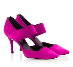 24d1c83dd16b Fratelli Karida Viola suede leather pointed toe single sole pumps