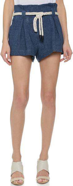 L'AGENCE Paper Bag Shorts
