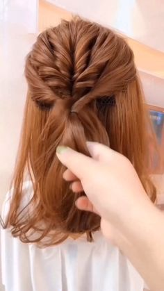 Easy Hairstyles For Long Hair, Pretty Hairstyles, Long Hair Hairstyles, Hairdos, Hair Up Styles, Medium Hair Styles, Great Hair, Hair Videos, Hair Designs