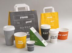 New Eat takeaway packaging created by The Plant. --- [Superb!]