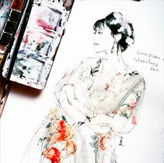 A gorgeous illustration of Fan Bingbing in Marchesa, submitted by @cshinleeee. (Instagram: marchesafashion)