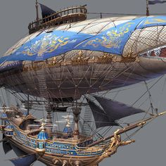 Airship by hyunbin An on ArtStation.