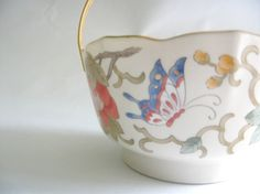 Oriental Floral and Butterfly Basket Made In Japan by mish73, £8.00