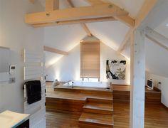 1000 images about charpente bois on pinterest attic for Charpente apparente salon