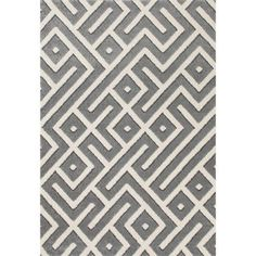 Contemporary Woven Area Rug with Maze Design, 01