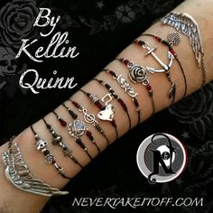 <b>Kellin Quinn Bracelet Bundle</b>This bundle includes all 12 bracelets in Kellin's line. For more detailed product descriptions please see individual product listings.Songwriter and lead vocalist <b>Kellin Quinn</b> has created an exclusive line for Never Take It Off that is inspired by World War II era tattoo art as well as his own tattoos, lyrics, and his clothing line <b>Anthem (www.anthemmade.com).</b>Originally from Orlando, Florida, Kellin rose to fame in 2010 with the release of…