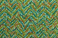 Vintage Cotton Fabric Chevron Fabric Zigzag Fabric Abstract www.thefabricscore.etsy.com #sewing #vintage #crafts #diy