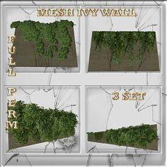 Mesh Ivy Wall Decoration 3 set Full perm
