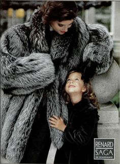 Very Cute Silver Fox Fur Coat Ad