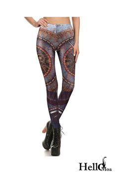Designed with premium high quality material, Light-weight, flexible and move with you every step. Ankle Length Leggings, Yoga Leggings, Workout Leggings, Steampunk Leggings, Mechanical Gears, Custom Made, Must Haves, Compliments, Polyester Spandex