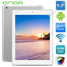 "(ONDA) V975M 9.7"" Retina IPS Screen Android 4.3 AML-M802 Quad-core 16GB Tablet w/ WiFi HDMI RAM 2GB ETC-280153 http://www.tinydeal.com/onda-v975m-97-px250pz-p-118754.html"